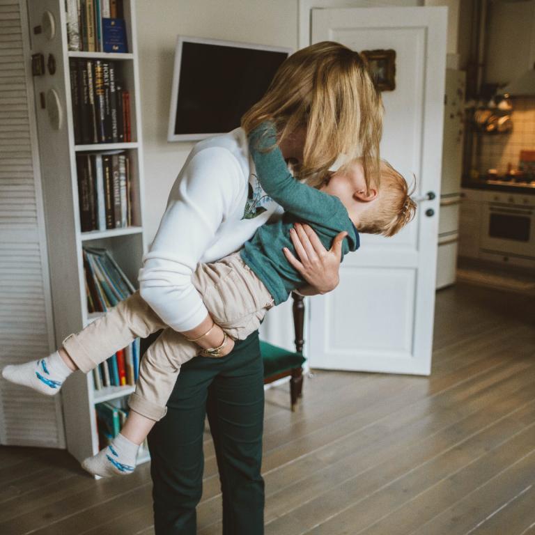 Zweisamzeit für Kind und Mutter.